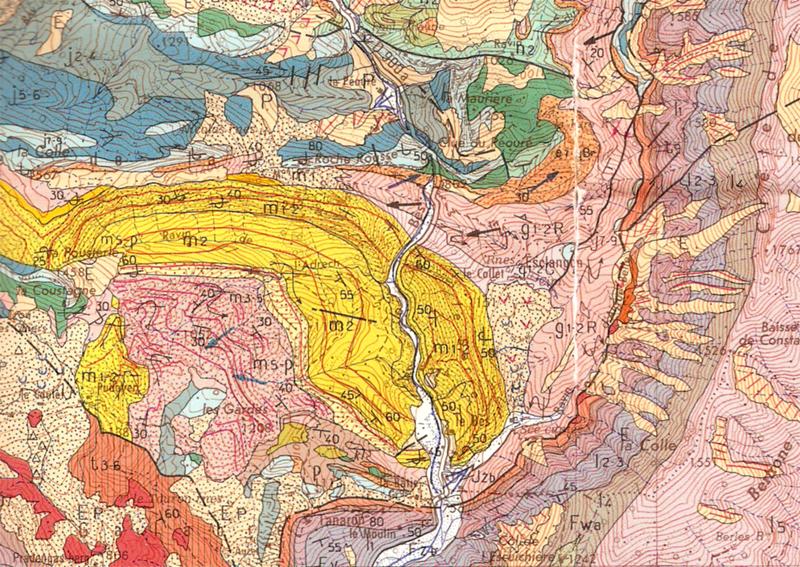 Carte g ologique panorama du serre d 39 esclangon for Piscine de digne les bains